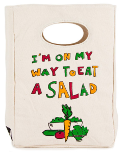 Organic Lunch Bag  Eat A Salad   Lunch Bag   Fluf